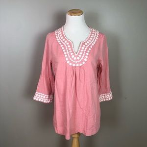 Boden Long Island Top Popover Tunic Top Size 6